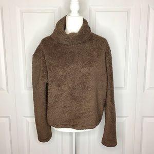 Reformation Wyoming Teddy Cowl Neck Sweatshirt